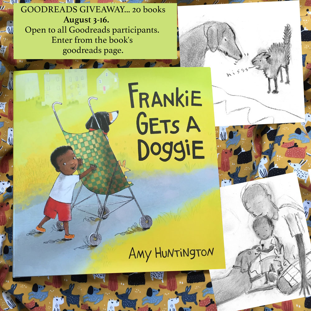 Cover of picture book with accompanying early sketches for the book.